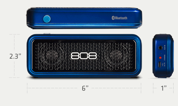 808 HEX XS small but loud Bluetooth wireless speaker