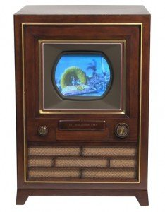 vintage console television
