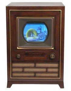 vintage console television